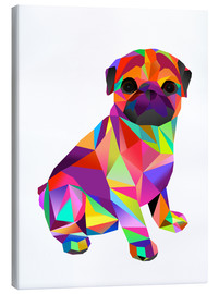 Canvas print  Molly Pug - Miss Coopers Lounge