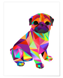 Premium poster Molly Pug