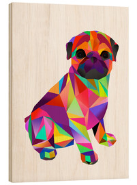 Wood print  Molly Pug - Miss Coopers Lounge