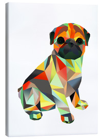 Canvas  Molly Pug 2 - Miss Coopers Lounge