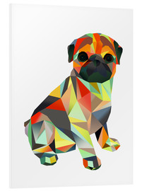 Foam board print  Molly Pug 2 - Miss Coopers Lounge