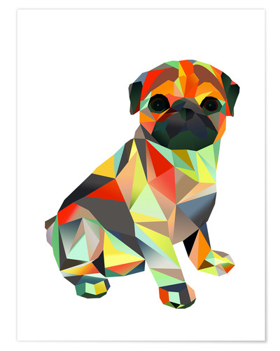Premium poster Molly Pug 2