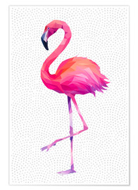 Premium poster  Flamingo 1 - Miss Coopers Lounge