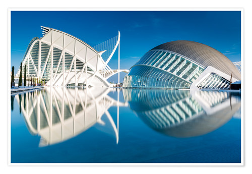 Premium poster Museum Valencia, City of Arts and Science