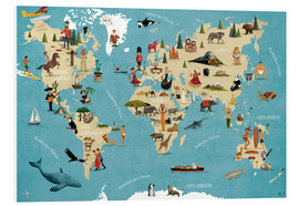 Forex  World map with animals - coico