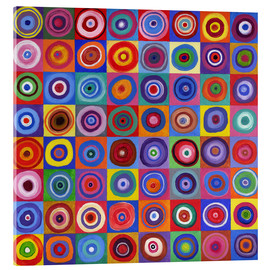 David Newton - In Square Circle 64 after Kandinsky