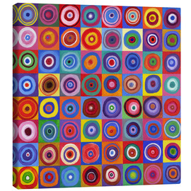 Canvas print  Square of circles according to Kandinsky - David Newton