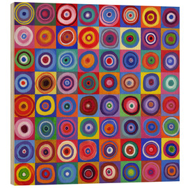 Wood  Square of circles according to Kandinsky - David Newton