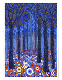 Premium poster Blue Forest
