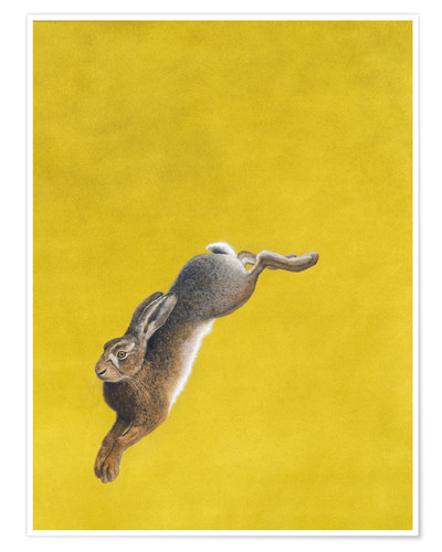 Premium poster The Leap-Yellow