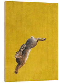 Wood print  The Leap-Yellow - Tim Hayward