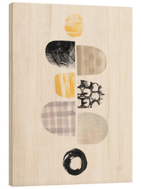 Wood print  Pebbles design I - Melissa Averinos