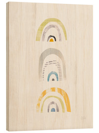 Wood print  Rainbow Design III - Melissa Averinos