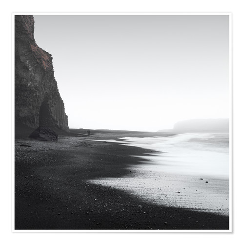 Premium poster Black beach in Iceland