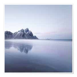 Premium poster Vestrahorn in Iceland at sunset