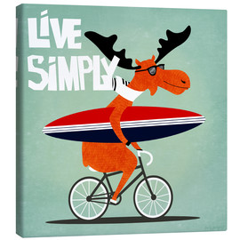 Canvas print  gaby jungkeit live simply - coico