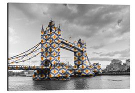 Alu-Dibond  Tower Bridge Colour Pop