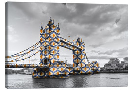Canvas print  Tower Bridge Colour Pop