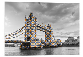 Foam board print  Tower Bridge Colour Pop