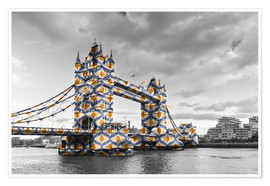 Premium poster Tower Bridge Colour Pop