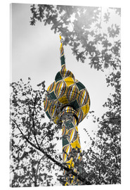 Acrylic print  TV tower Colour Pop