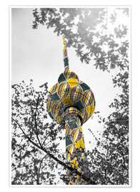 Premium poster  TV tower Colour Pop