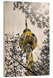 Wood print  TV tower Colour Pop