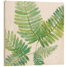 Wood print  Ferns Square II - Chris Paschke