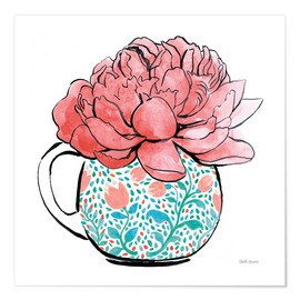 Premium poster  Floral Teacups I - Beth Grove