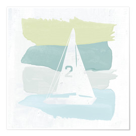 Poster Seaside Swatch Sailboat