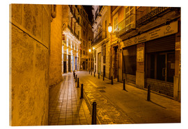 Acrylic glass  Valencia old town at night - Thomas Hagenau
