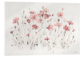 Acrylic print  Wildflowers in pink - Lisa Audit