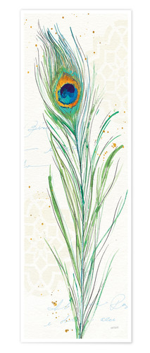 Premium poster Peacock feather in the garden VI