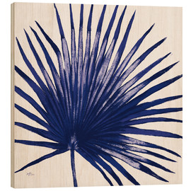 Wood print  Welcome to Paradise XVI Indigo - Janelle Penner