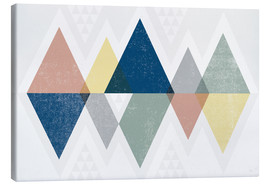 Canvas print  Modern triangles II - Michael Mullan