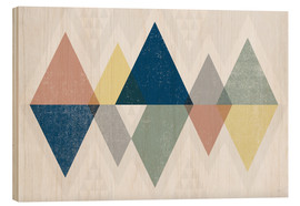 Wood print  Modern triangles II - Michael Mullan
