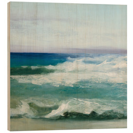 Wood print  Azure Ocean - Julia Purinton