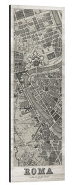 Aluminium print  Vintage Roma Map Panel - Wild Apple
