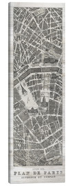 Canvas  Vintage map of Paris - Wild Apple