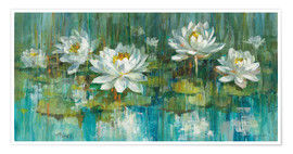 Premium poster Water Lily Pond