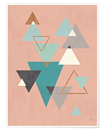 Premium poster Abstract Geo II Pink