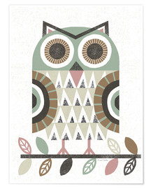 Premium poster Folk Lodge Owl