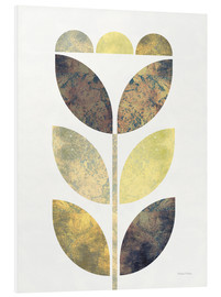 Foam board print  Golden Flower I - Michael Mullan