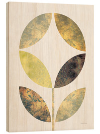 Wood print  Golden Flower II - Michael Mullan