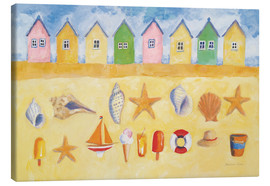 Canvas print  Beach huts - Michael Clark