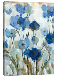 Canvas  Abstracted Floral in Blue II - Silvia Vassileva