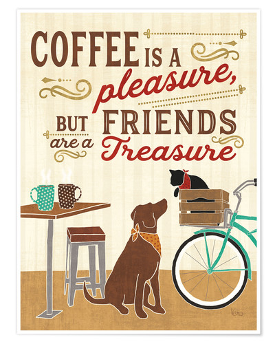 Premium poster Coffee and Friends II