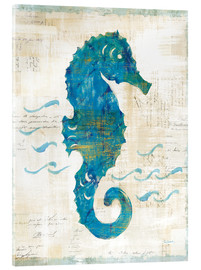 Acrylic print  Seahorses and waves III - Sue Schlabach