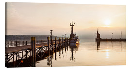 Canvas print  Morning mood in Constance on Lake Constance - Dieterich Fotografie