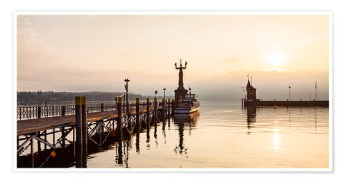 Premium poster Morning mood in Constance on Lake Constance